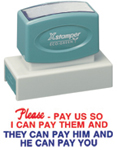 Jumbo Stock Stamps