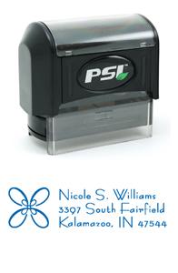 "1854 - PSI 1854<br>11/16"" x 2-1/8"" Pre-Inked Address Stamp"